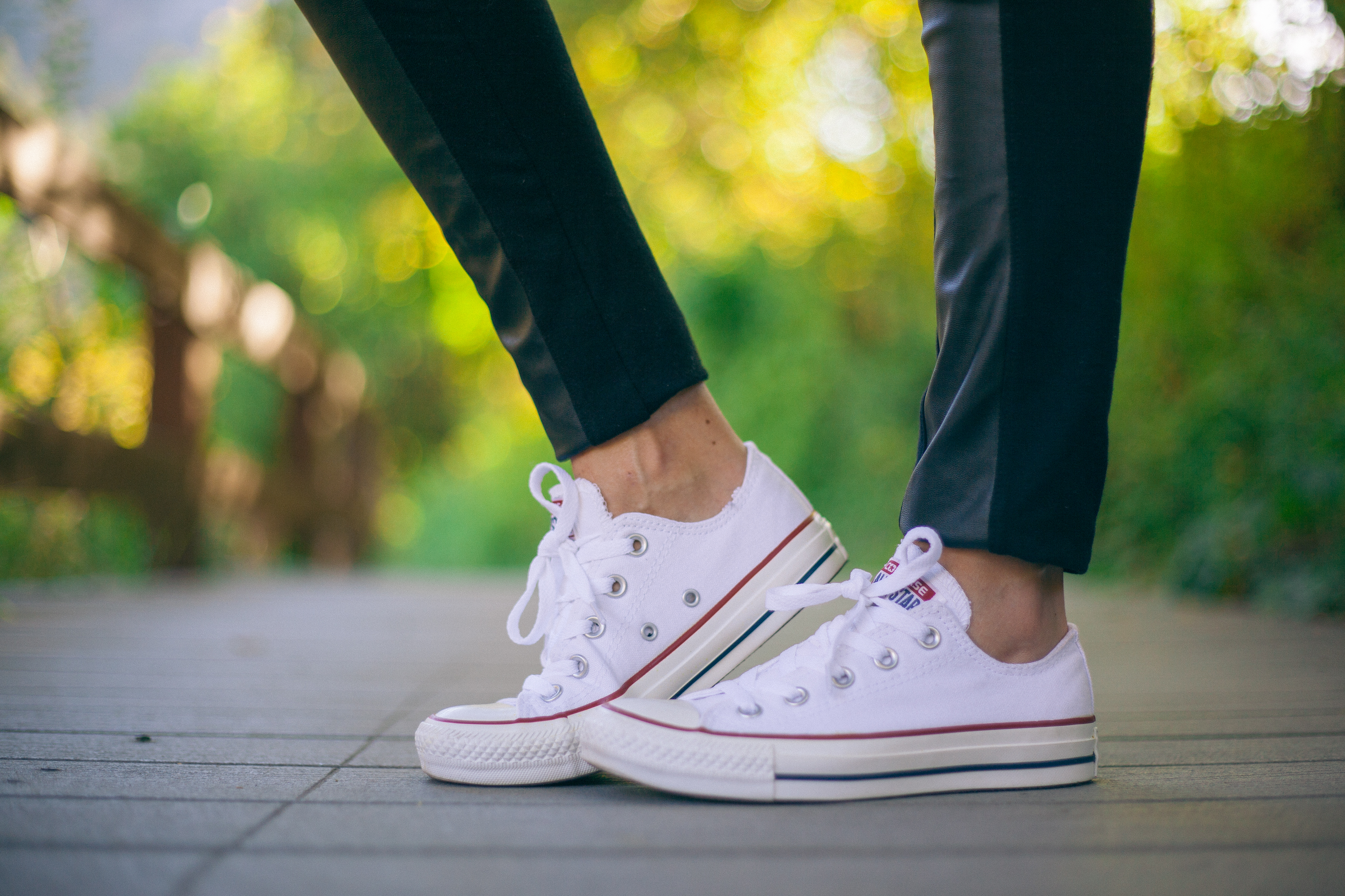 Holy Chic Tee and White Converse All Star Sneakers | Modest Style