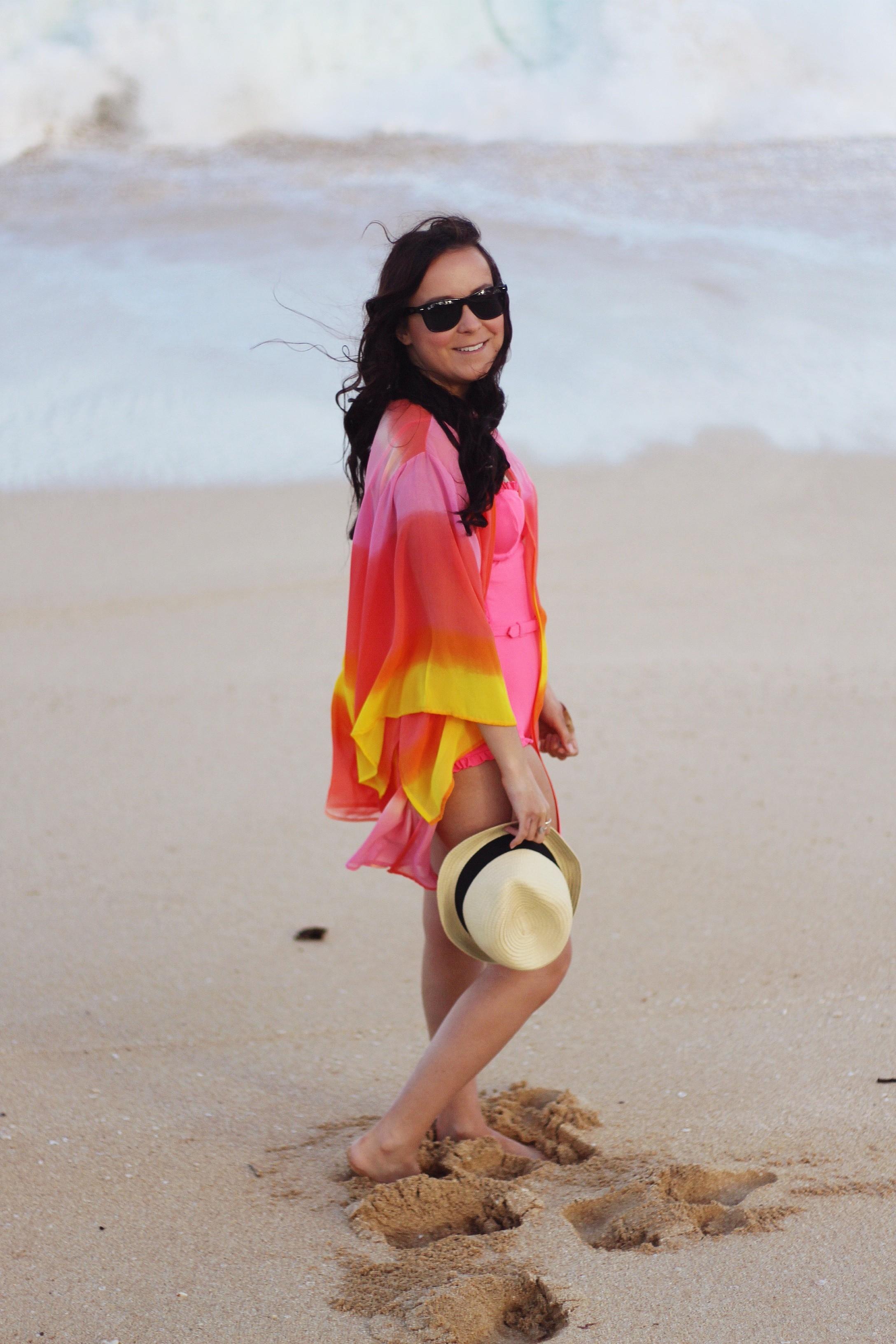 Sunset Kimono Beach Outfit