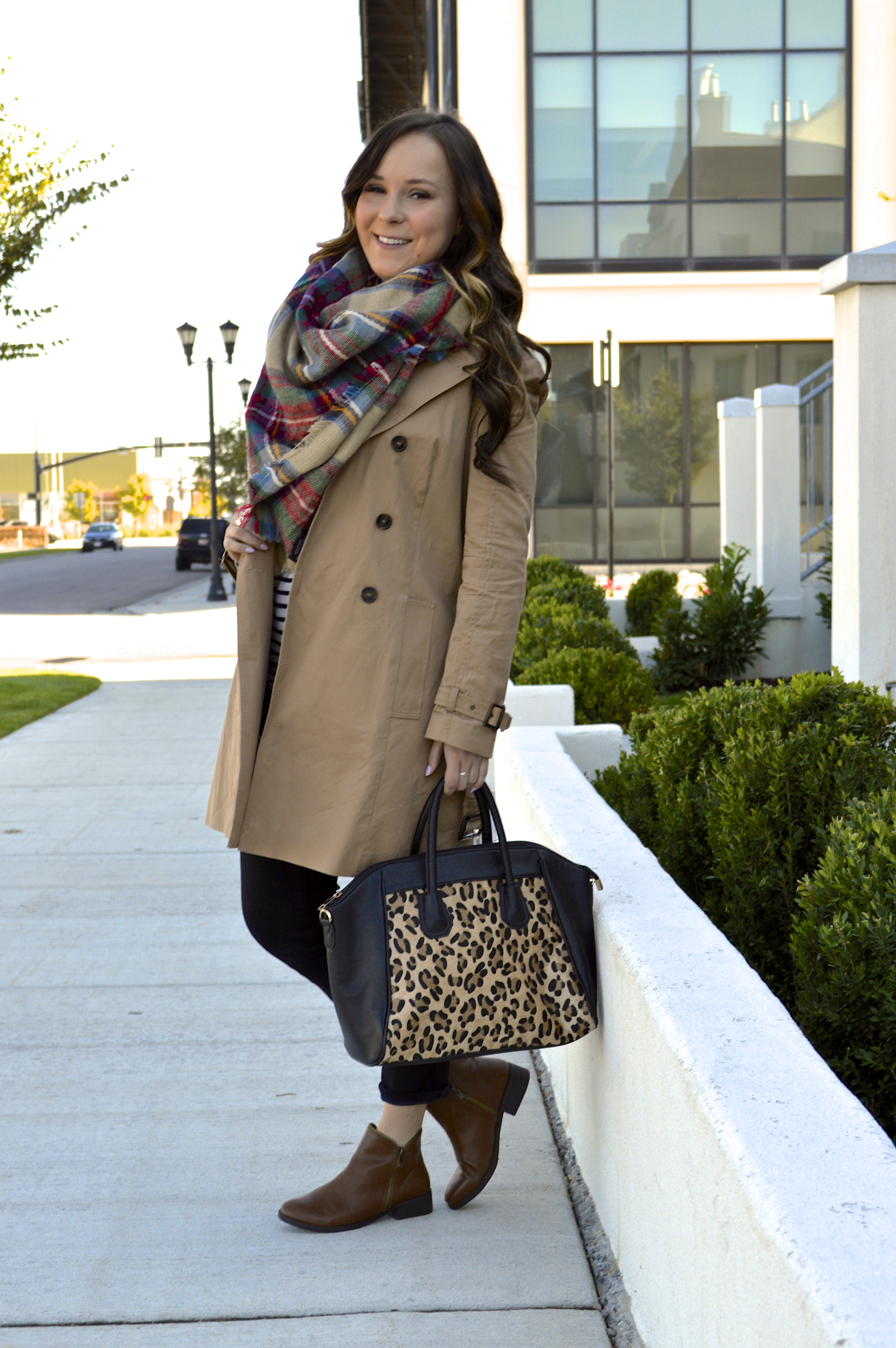 Fall Staples Trench Coat Amp Blanket Scarf
