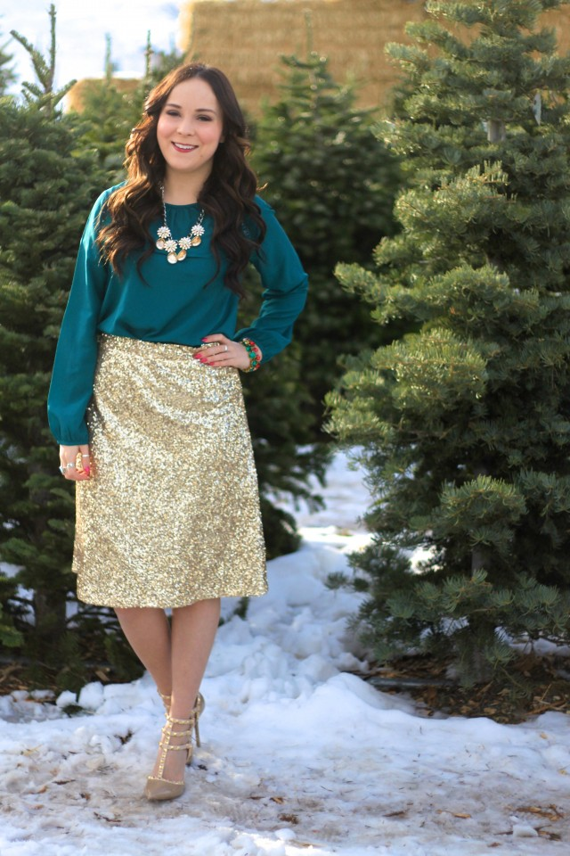 Gold Sequin Skirt 2