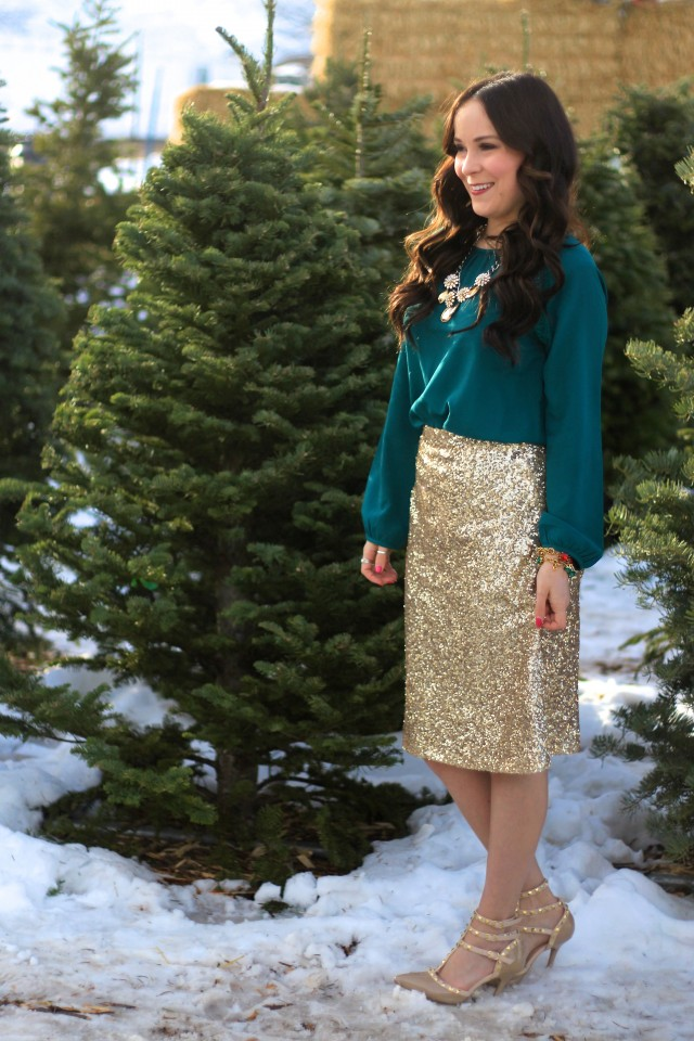 Gold Sequin Skirt 4