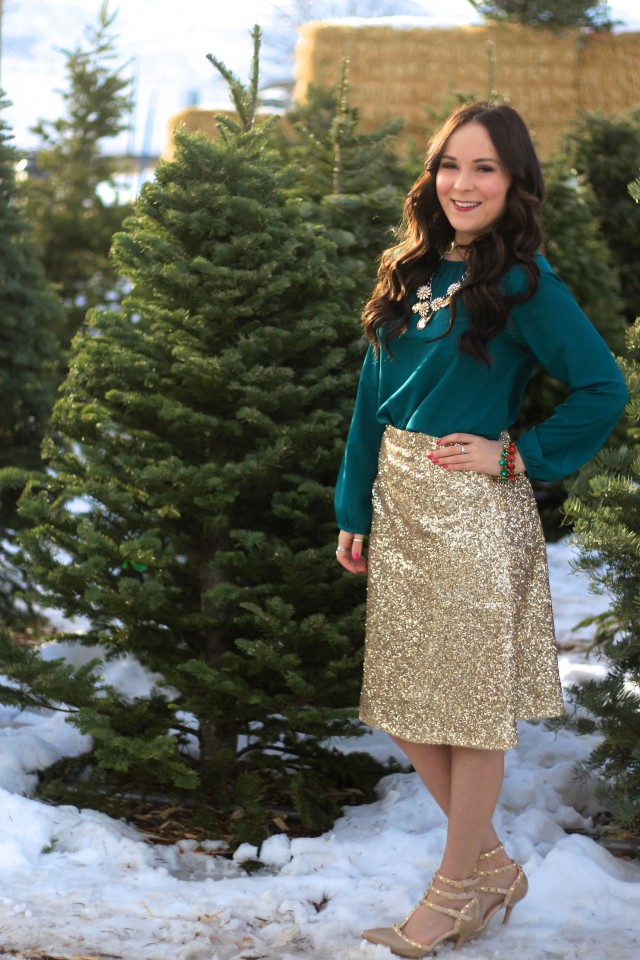 Gold Sequin Skirt 3